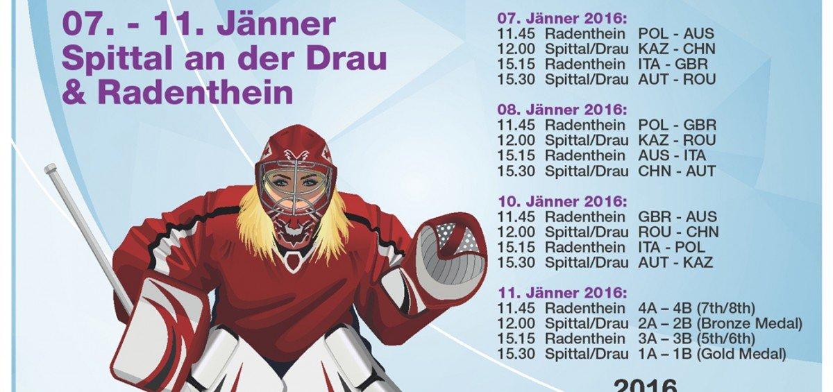 Turnierplakat U18 Damen Eishockey WM-Qualifikation